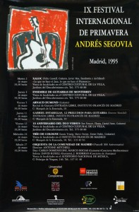 Antoine Mitchell conducts Orquesta de la Communidad de Madrid at IX Festival International de Primavera Andres Segovia, 1995