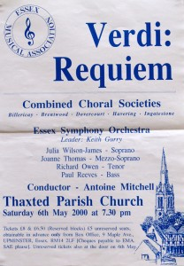 Antoine Mitchell conducts Essex Symphony Orchestra, Verdi Requiem, 2000
