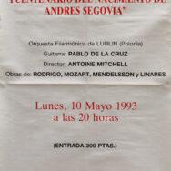 Festival International de Primavera, 1993