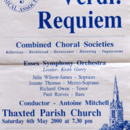 Essex Symphony Orchestra, Verdi Requiem